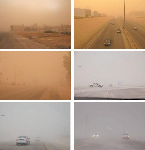 عواصف تغشت الرياض والشرقية والقصيم