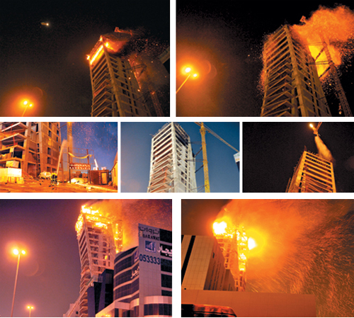 ليلة ساخنة بأحد أبراج الرياض