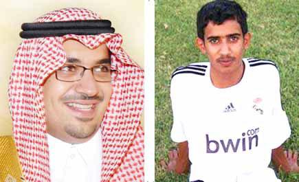 لاعب سعودي يمارس الكرة قلبه