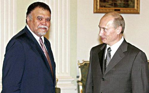 الرئيس الروسي بحث مع الأمير بندر بن سلطان أوضاع الشرق الأوسط
