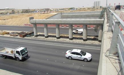 مرور الرياض مخرج 9 باتجاه الجنوب غدا مغلق من 3 فجراً الى 7 صباحاً