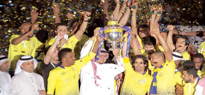 النصر يتو ج بلقب بطل الدوري لسادس مرة