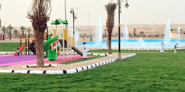بلدية عيون الجواء تشغل منتزه النفود تجريبيا