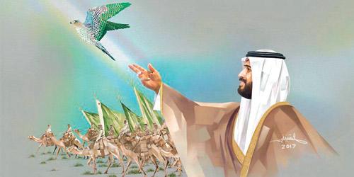 التشكيليون رؤية الملك سلمان بقيادة ولي عهده الأمير محمد تبعث في الجميع روح الابتكار