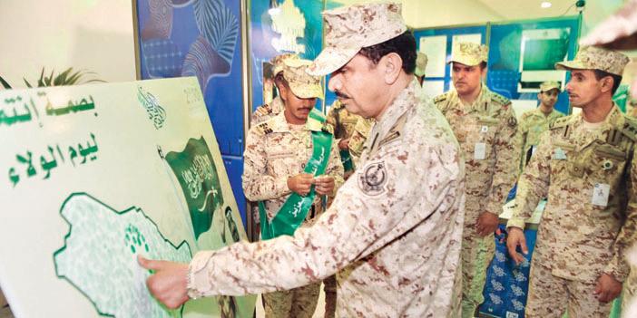 كلية الملك خالد العسكرية تحتفل مع طلبتها باليوم الوطني