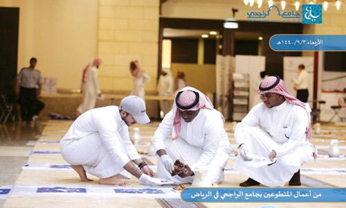 كلية المجتمع بجامعة الملك سعود تواصل دعم العمل التطوعي